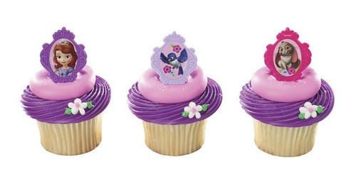 Sofia The First Cupcake Rings
