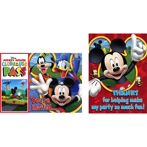 Mickey Playtime Invitations & Thank You Combo