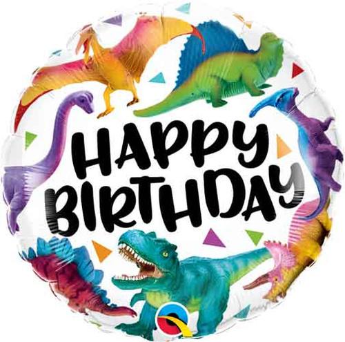"18"" Birthday Dinosaurs Colorful Balloon"