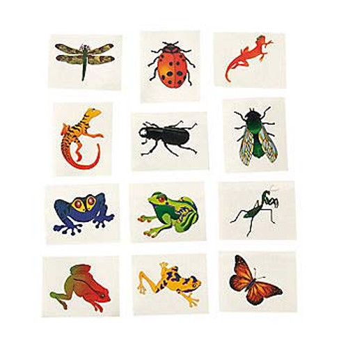 Insect and Reptile Temporary Tattoos