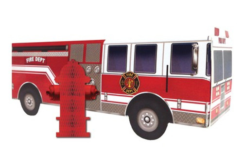 Fire Watch Firetruck Honeycomb Centerpiece