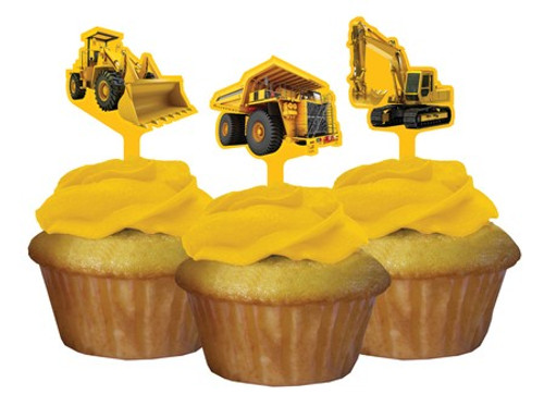 Construction Zone Cupcake Toppers