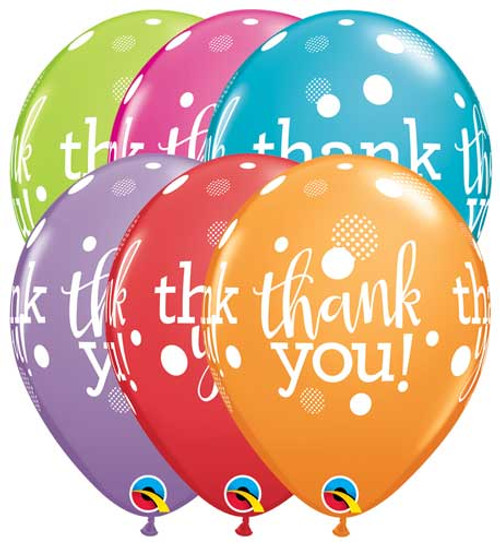 11 Thank You Latex Balloon Assortment