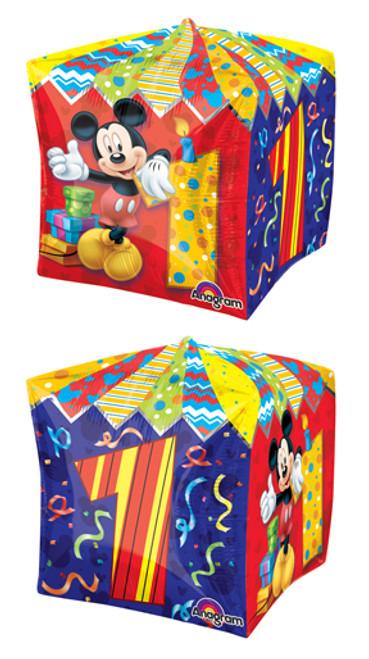 "15"" Mickey Age 1 Cubez UltraShape Balloon"