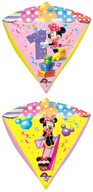 "17"" Minnie Age 1 Diamondz UltraShape Balloon"