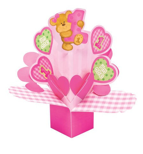 Bears 1st Birthday Girl Dimensional Centerpiece