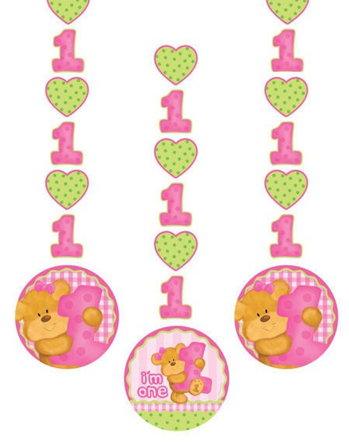 Bears 1st Birthday Girl Hanging Cutout