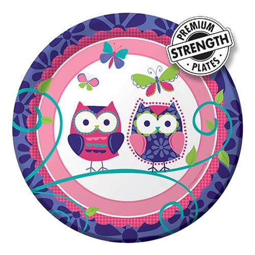 "Owl Pal Birthday 7"" Lunch Plates"
