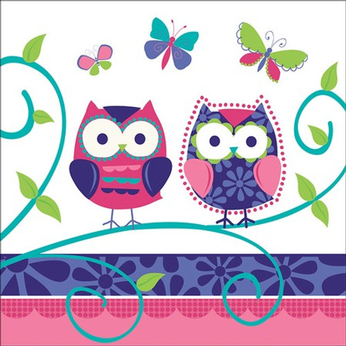 Owl Pal Birthday 3-Ply Lunch Napkins