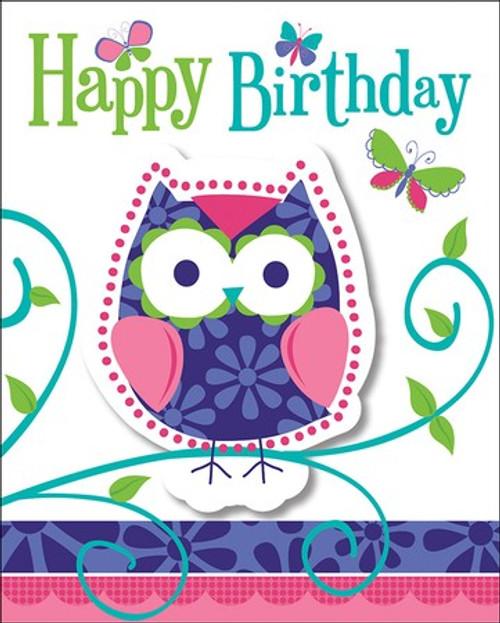 Owl Pal Birthday Foldover Invitations & Envelopes