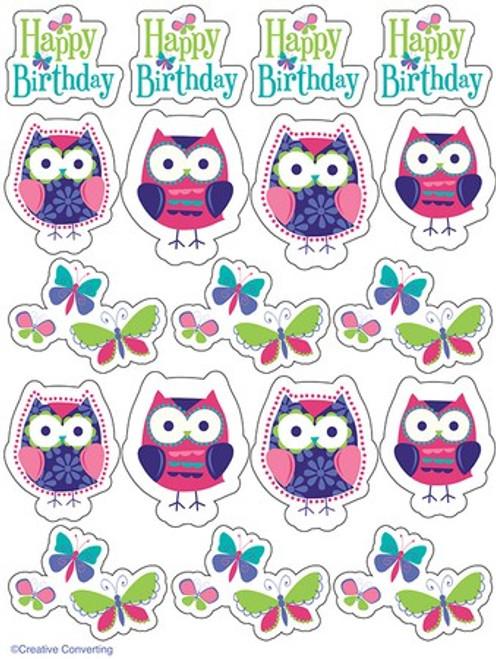 Owl Pal Birthday Value Stickers