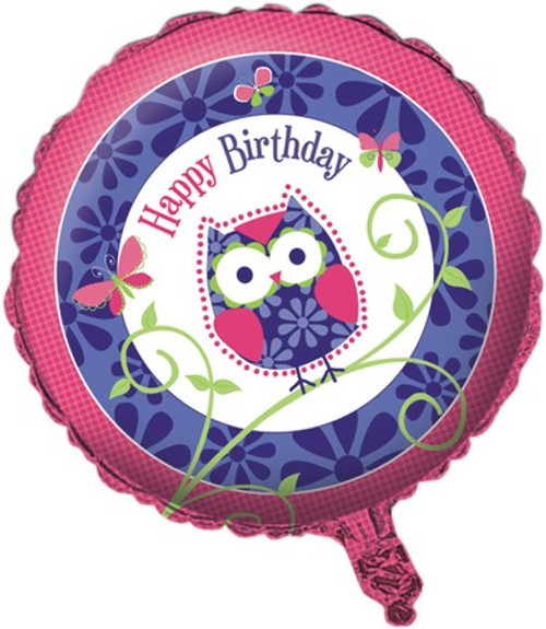 "18"" Owl Pal Birthday Foil Balloon"