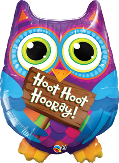 "34"" Hoot Hoot Hooray Owl Super Shape Balloon"
