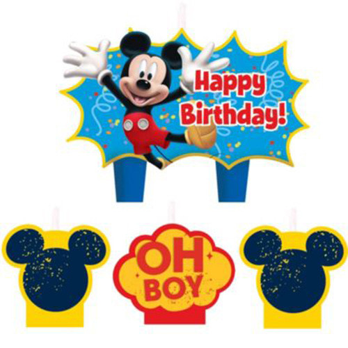 Mickey Mouse Molded Candle Set