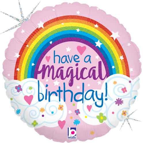 "18"" Birthday Magical Rainbow Balloon"