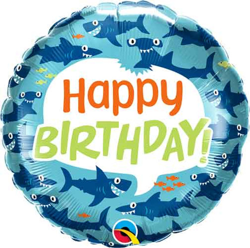 "18"" Birthday Fun Sharks Balloon"