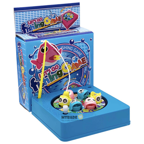 Mini Wind up Magnetic Fishing Game Blue
