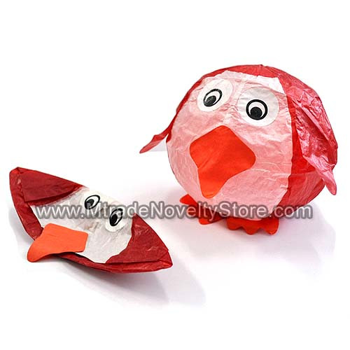 Red Penguin Paper Ball