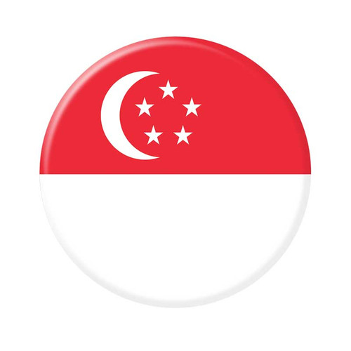 2.25 Inch Singapore Flag Magnet