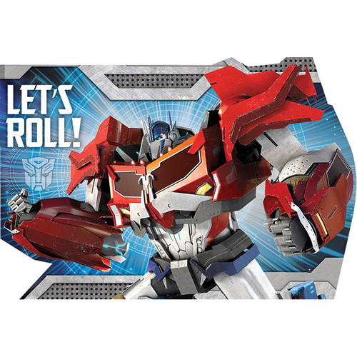 Transformers Animated Invitations