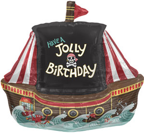 "36"" Jolly Pirate Ship Super Shape Balloon"