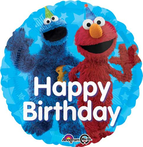 "17"" Sesame Street Fun Birthday Balloon"