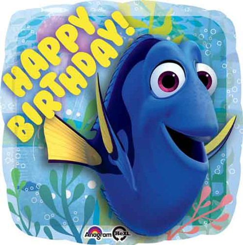"17"" Finding Dory Birthday Square Balloon"