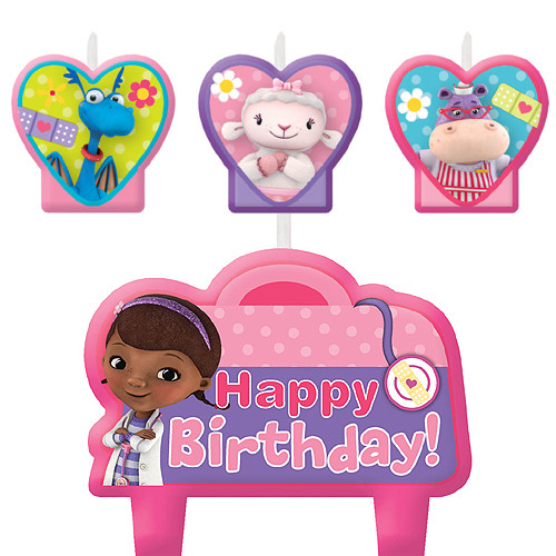 Doc McStuffins Molded Candle Set