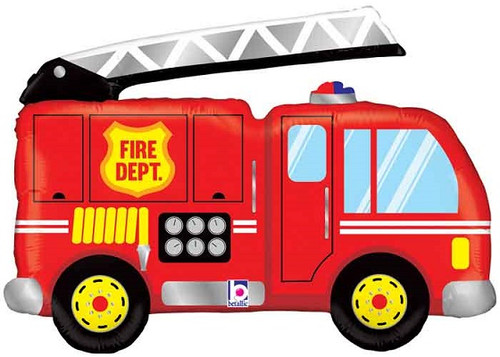 40 Fire Truck Super Shape Balloon