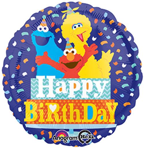 "17"" Sesame Street Birthday Confetti Balloon"