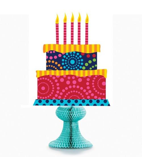 Birthday Cake Stand Honeycomb Centerpiece