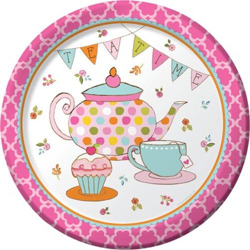 "Tea Time 9"" Dinner Plates"