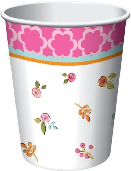 Tea Time 9 oz. Hot/Cold Cups