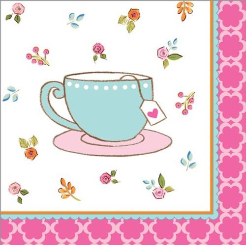 Tea Time 3-Ply Beverage Napkins