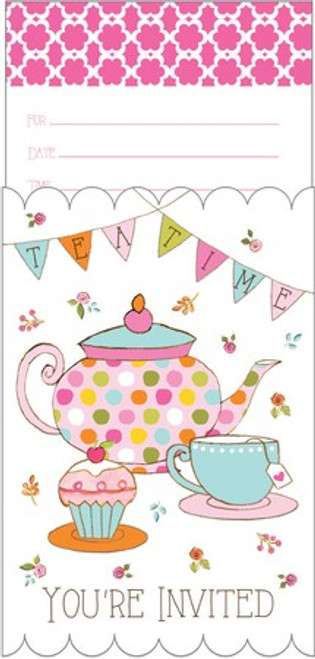 Tea Time Pop-Up Invitations & Envelopes