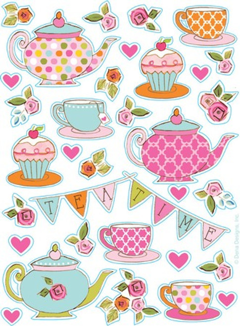 Tea Time Value Stickers