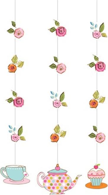 Tea Time Hanging Cutouts