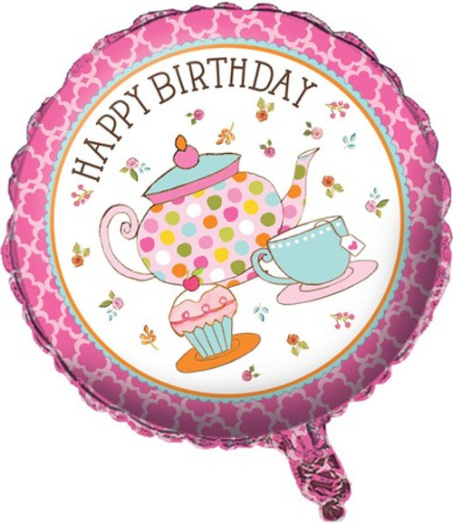"18"" Tea Time Foil Balloon"