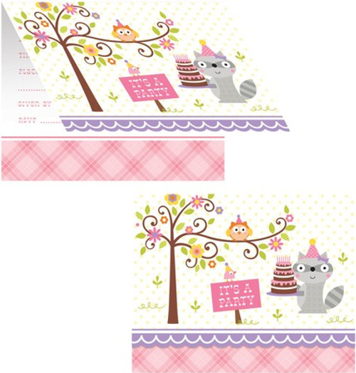 Happi Woodland Girl Invitations & Envelopes