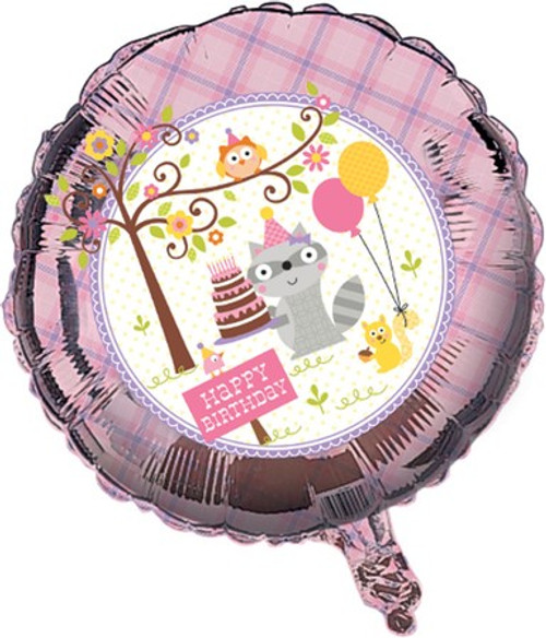 "18"" Happi Woodland Girl Birthday Foil Balloon"