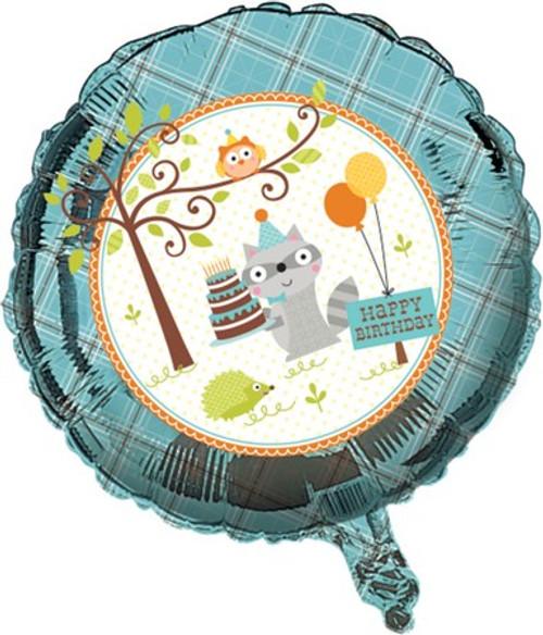 "18"" Happi Woodland Boy Birthday Foil Balloon"