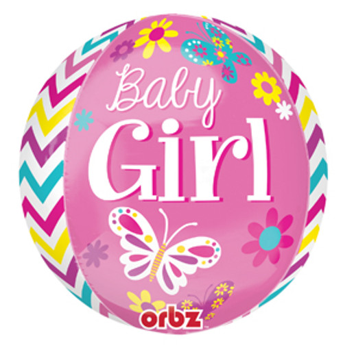 "16"" Beautiful Baby Girl Orbz Balloon"