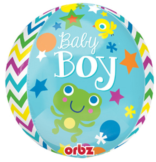 "16"" Sweet Baby Boy Orbz Balloon"