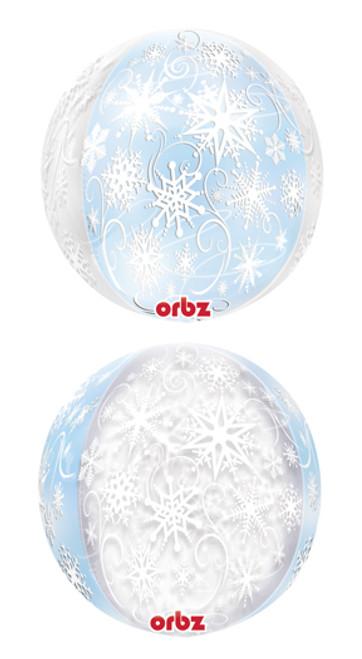"""16"""" Frozen Snowflakes Orbz Balloon"""