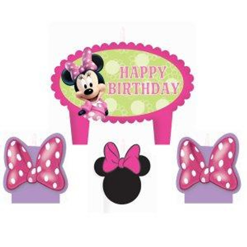 Disney Minnie Mouse Bowtique Birthday Molded Candle Set