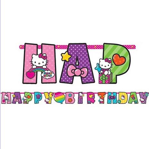 Hello Kitty Rainbow Add An Age Jumbo Letter Banner Kit