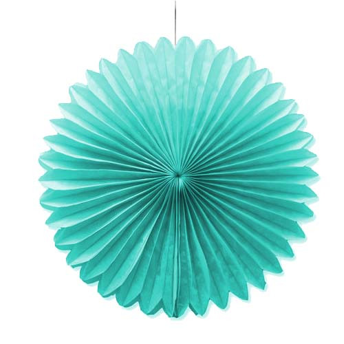 "Caribbean Blue 10"" Tissue Paper Fan"