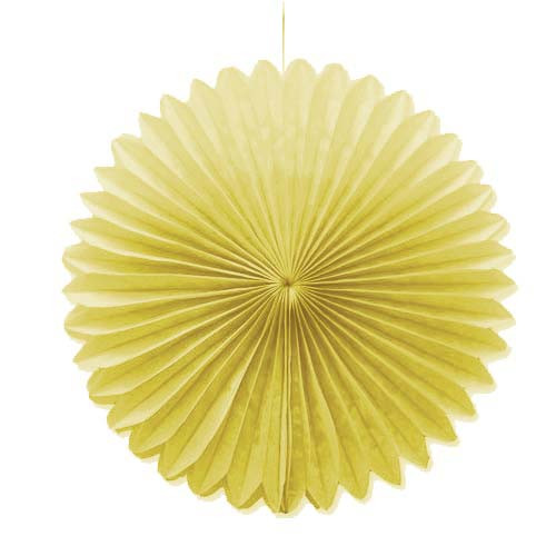 "Beige 10"" Tissue Paper Fan"