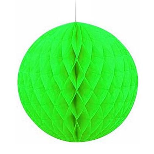 """Light Green 8"""" Honeycomb Tissue Paper Ball"""