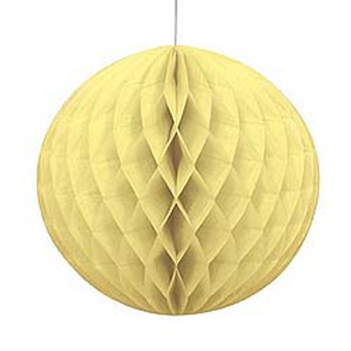 "Beige 8"" Honeycomb Tissue Paper Ball"